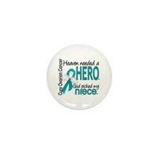 Ovarian Cancer Heaven Needed Mini Button (10 pack)