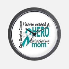 Ovarian Cancer Heaven Needed Hero 1.1 Wall Clock