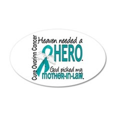 Ovarian Cancer Heaven Needed Wall Decal