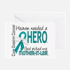 Ovarian Cancer Heaven Needed Hero 1. Greeting Card