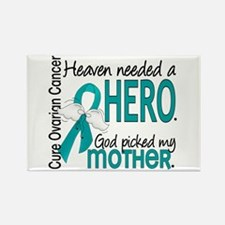 Ovarian Cancer Heaven Needed Hero Rectangle Magnet