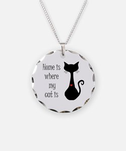 Home is where my cat is Necklace