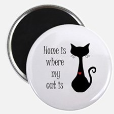 Home is where my cat is Magnet