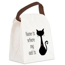 Home is where my cat is Canvas Lunch Bag