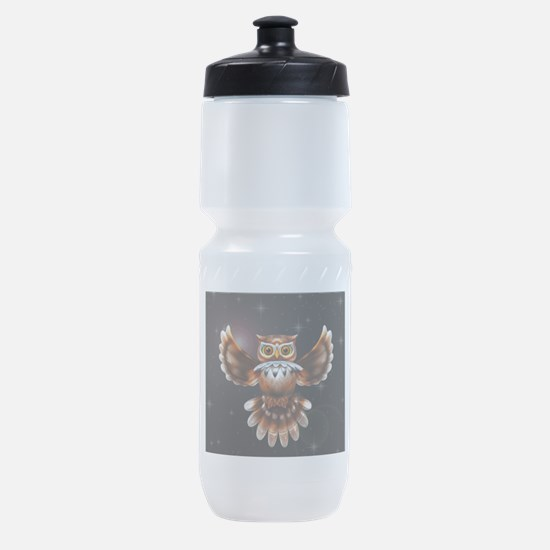Owl Surreal 3d Art Sports Bottle