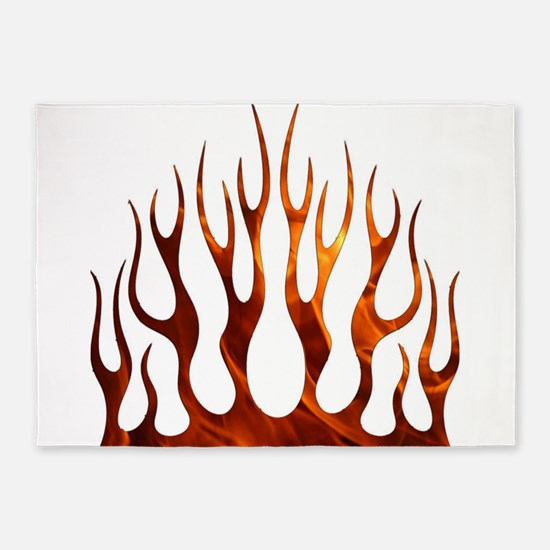 Tribal Flames Fire 5'x7'Area Rug