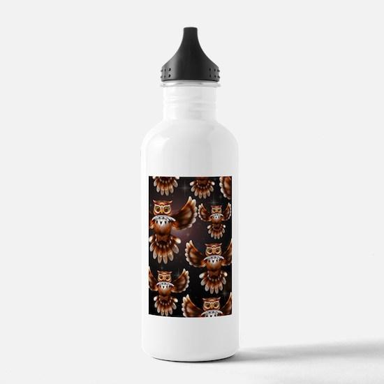 Owl Surreal 3d Art Water Bottle