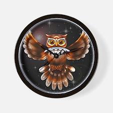 Owl Surreal 3d Art Wall Clock