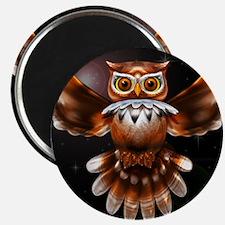 Owl Surreal 3d Art Magnets