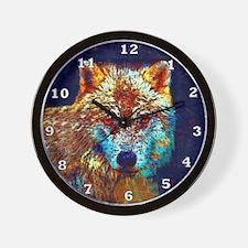 Pop Art Wolf Wall Clock
