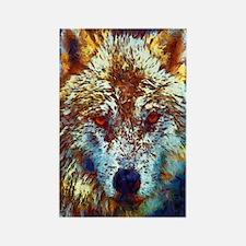 Pop Art Wolf Rectangle Magnet Magnets