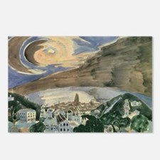 Moon Over Barcelona by Gr Postcards (Package of 8)