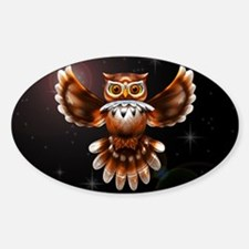 Owl Surreal 3d Art Decal