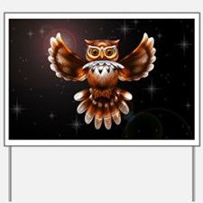 Owl Surreal 3d Art Yard Sign