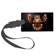 Owl Surreal 3d Art Luggage Tag