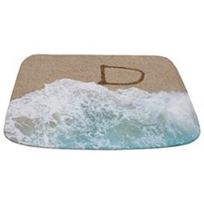 LETTERS IN SAND D Bathmat