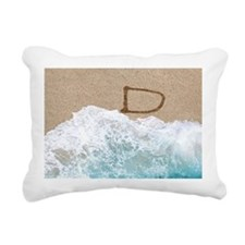 LETTERS IN SAND D Rectangular Canvas Pillow