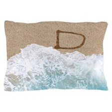 LETTERS IN SAND D Pillow Case