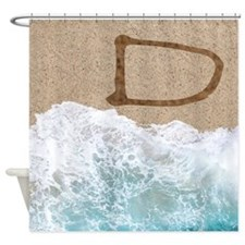 LETTERS IN SAND D Shower Curtain