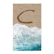 LETTERS IN SAND C 3'x5' Area Rug