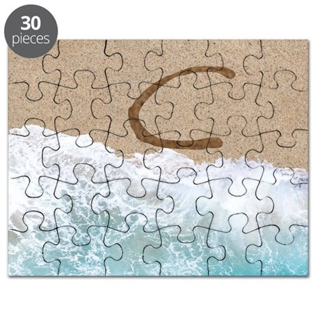 LETTERS IN SAND C Puzzle