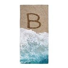 LETTERS IN SAND B Beach Towel