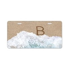 LETTERS IN SAND B Aluminum License Plate