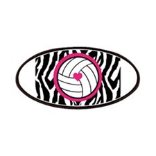 Volleyball -zebra print Patches
