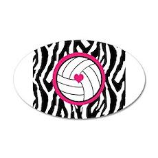 Volleyball -zebra print Wall Decal