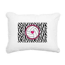 Volleyball -zebra print Rectangular Canvas Pillow