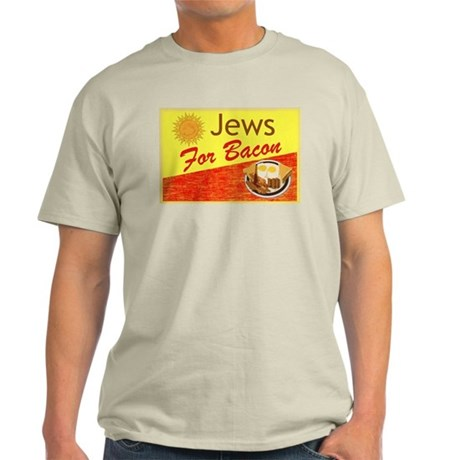 Jews For Bacon Light T-Shirt