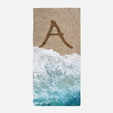 LETTERS IN SAND A Beach Towel
