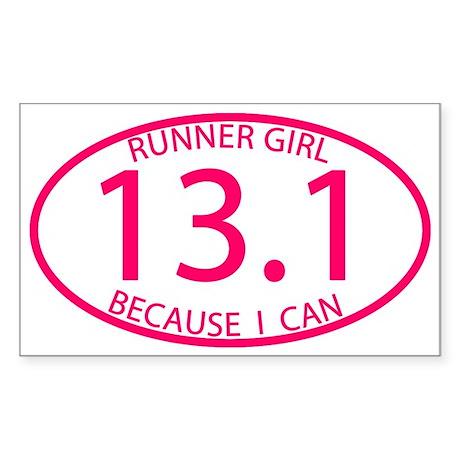 13.1 Runner Girl Because I Can Sticker