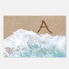 LETTERS IN SAND A Postcards (Package of 8)