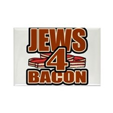 Jews For Bacon Rectangle Magnet