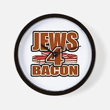Jews For Bacon Wall Clock