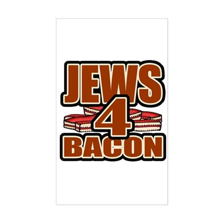 Jews For Bacon Rectangle Sticker