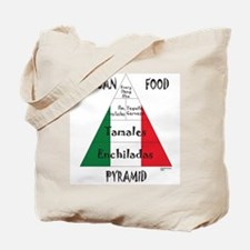 Mexican Food Pyramid Tote Bag