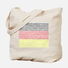 German Cities Flag Tote Bag