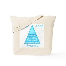 Greek Food Pyramid Tote Bag