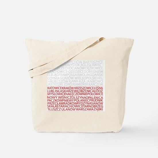 Polish Cities Flag Tote Bag