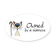 Cute Siameses cat Oval Car Magnet