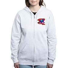 Autism Awareness Butterfly Design Zip Hoodie