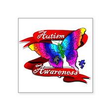 Autism Awareness Butterfly Design Sticker