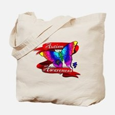 Autism Awareness Butterfly Design Tote Bag