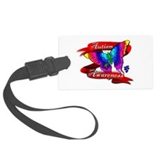 Autism Awareness Butterfly Design Luggage Tag