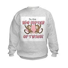 Big Sister of twins (Monkey) Sweatshirt