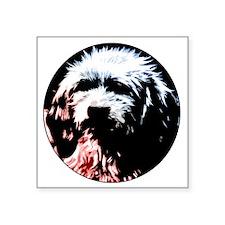"Dog # 20 Square Sticker 3"" x 3"""