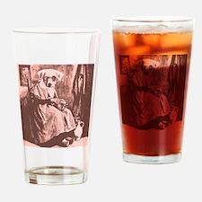 Granny Dog Drinking Glass