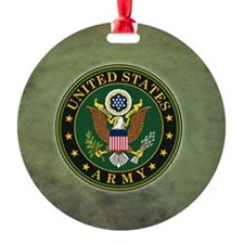 Army Seal Green Grunge Ornament